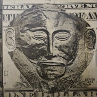 Mask of Agamemnon on Money